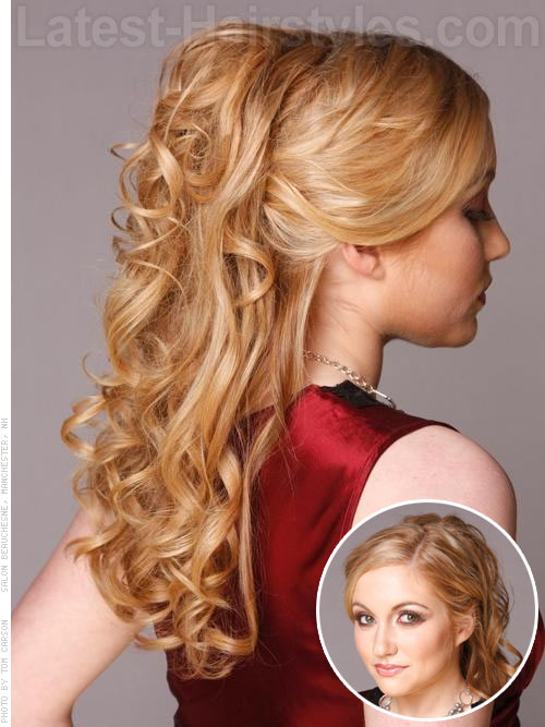 Princess prom half up half down prom hairstyle